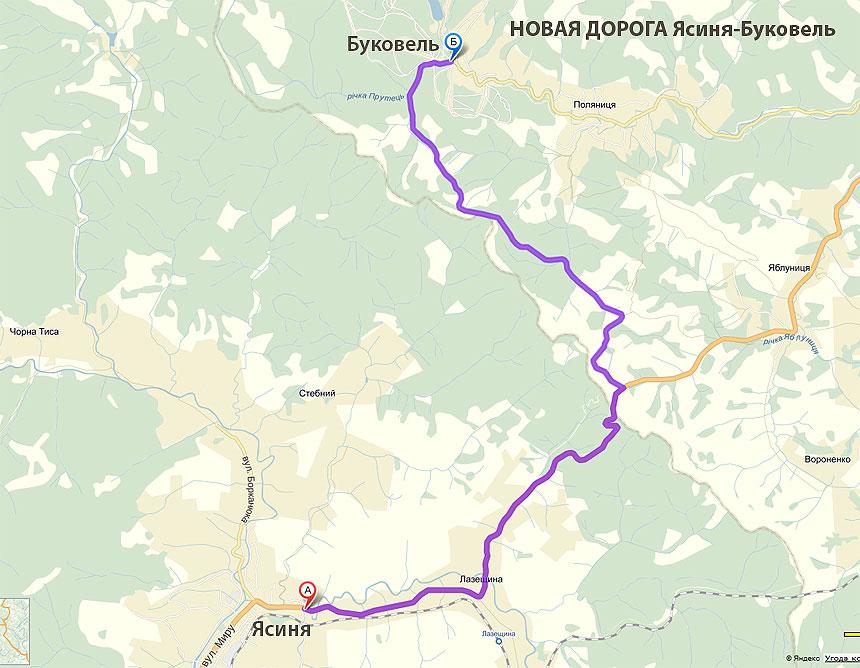 route to bukovel
